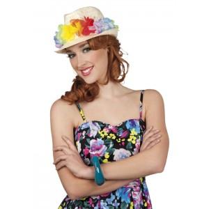 Cappello di paglia Hawaii - LA LUNA DI CARTA di Cassani Giulia e85a55abae8d